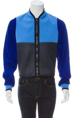 Calvin Klein Collection Mesh Zip-Up Sweater w/ Tags