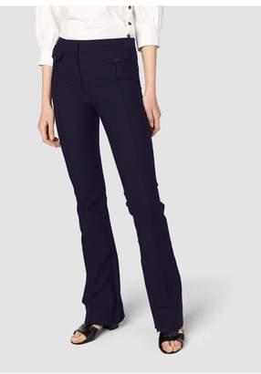 Derek Lam 10 Crosby Flare Trouser With Seam Pocket Flap Detail