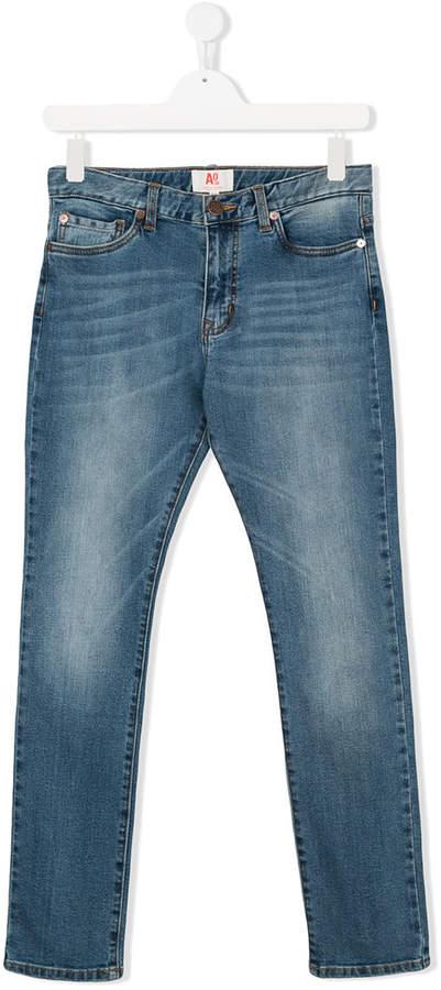 American Outfitters Kids Schmale Jeans mit ausgeblichenem Effekt