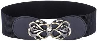 Belle Women Retro Elastic Waist Metal Interlock Buckle Size S CL0413-1