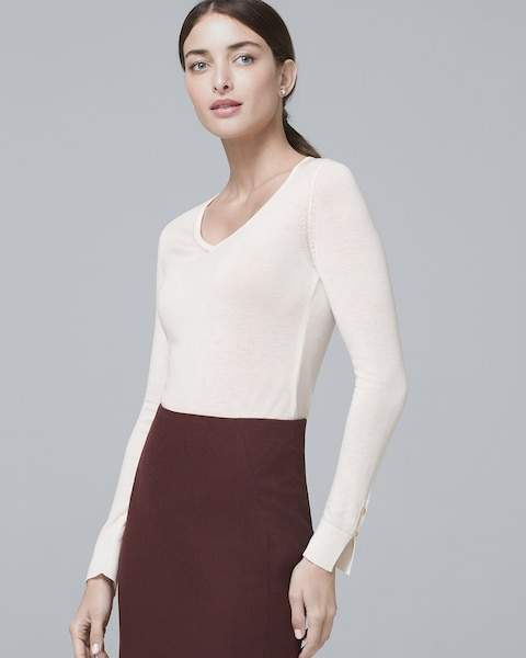 Whbm V-Neck Sweater