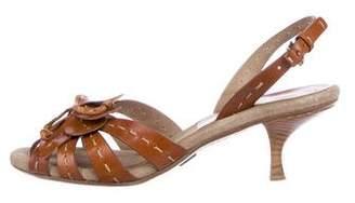 Michael Kors Leather Slingback Sandals