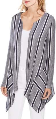 Vince Camuto Sweater-Like Stripe Cardigan