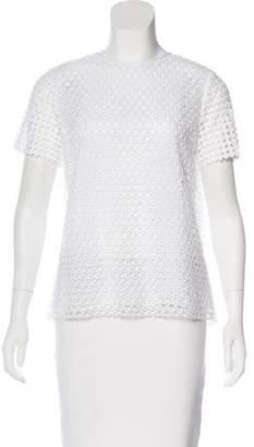 Tory Burch Crochet Short Sleeve Top