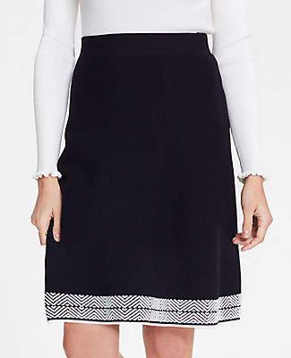 bb17cc90549faf Ann Taylor Petite Stitched Hem Sweater Skirt