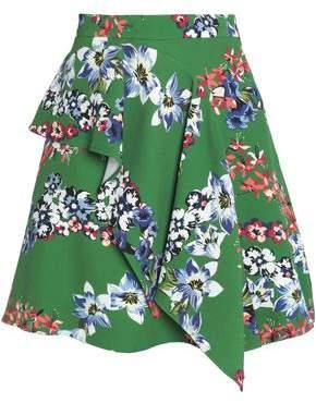 MSGM Layered Printed Crepe Mini Skirt