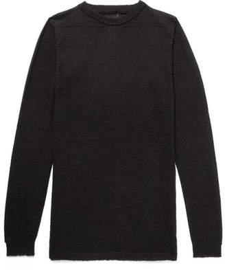 Rick Owens Slim-Fit Baby Alpaca-Blend Sweater - Men - Black