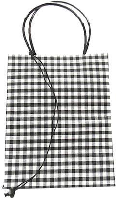 The Brave Brown Bag Small Check Wax Cotton Tote