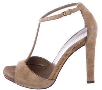 Gucci Suede T-Strap Sandals