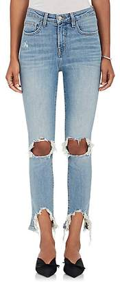 L'Agence Women's High Line Distressed Skinny Jeans - Desert Lig