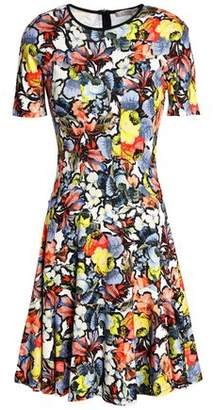 Erdem Regan Floral-Print Ponte Mini Dress