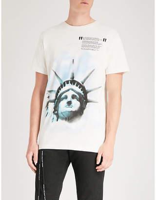 Off-White Liberty cotton-jersey T-shirt