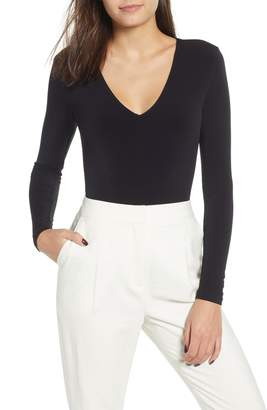 Leith Deep V-Neck Long Sleeve Bodysuit