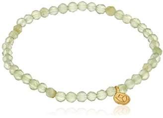 "Satya Jewelry Classics"" Amethyst Mini Lotus Stretch Bracelet"