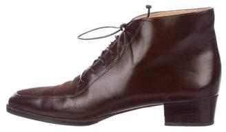 Salvatore Ferragamo Residente Leather Ankle Boots