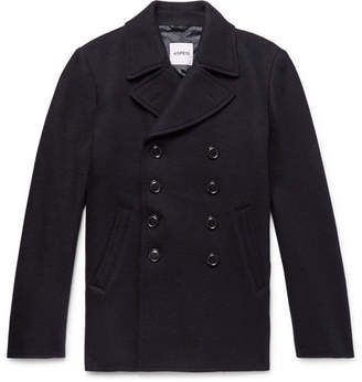 Aspesi Double-Breasted Boiled Wool Peacoat