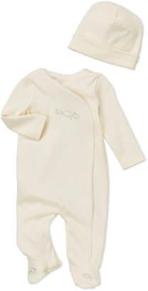 Baby Essentials Miniclasix (Newborn) Two-Piece Embroidered Footie & Cap Set