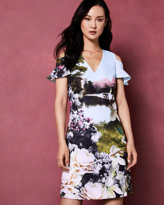 Ted Baker LILAA Windermere cold shoulder tunic dress