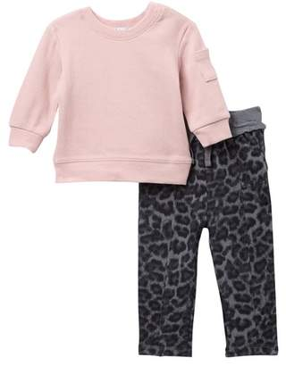 Splendid Thermal Long Sleeve Top & Pants Set (Baby Girls)