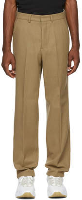 Ami Alexandre Mattiussi Brown Wool Formal Trousers
