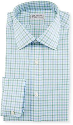 Charvet Tattersall Dress Shirt, Green