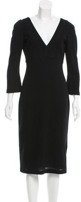 Vera Wang Sheath Keyhole-Accented Dress $125 thestylecure.com