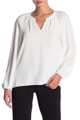 Kasper Long Sleeve Crepe Blouse