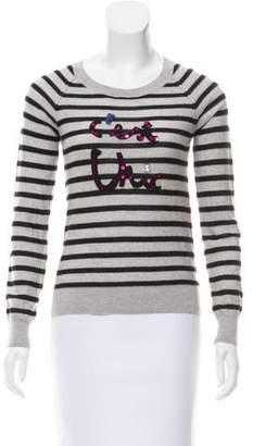 Sonia Rykiel Sonia by Embellished Striped Sweater