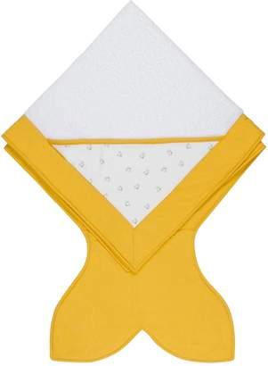 BABY BITES コットン フィッシュプリントフード付きタオル