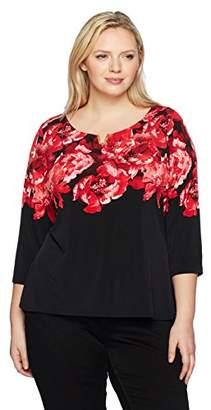 Calvin Klein Women's Plus Size L/s PRT W/u Hware
