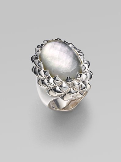 Stephen Webster White Mother-of-Pearl & Sterling Silver Ring
