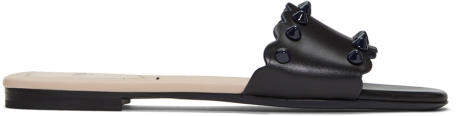 Fendi Black Biscuit Stud Sandals