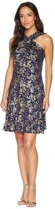 MICHAEL Michael Kors Scatter Blossoms Cross Neck Dress Women's Dress