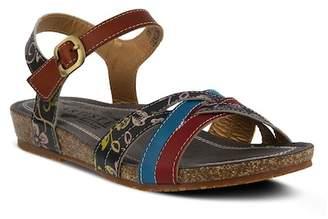 L'ARTISTE Emillia Cross Strap Design Sandal