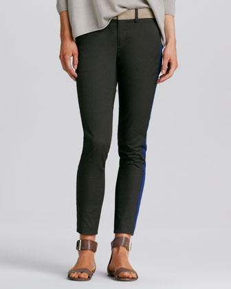 Vince Tricolor Strapping Fitted Pants
