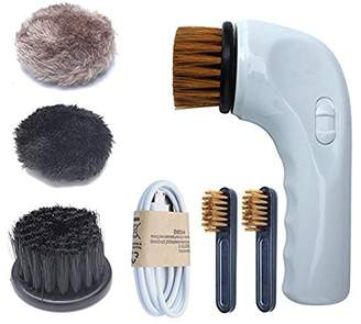 Lufei Rechargeable Shoe Polisher Brush Portable Electric Automatic Shoes Brush Set for Leather Care