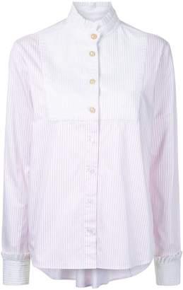 Macgraw high neck striped shirt