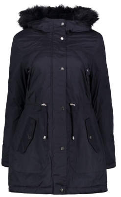 George Navy Faux Fur Trim Hooded Parka