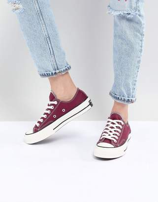 Converse Chuck '70 ox sneakers in burgundy