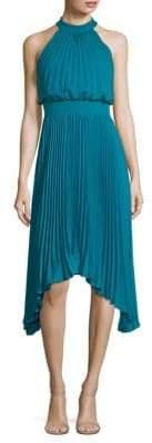 Aidan Mattox Pleated Halter Dress