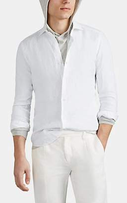 Barba Men's Slub Linen Shirt - White