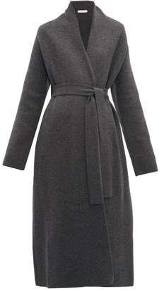 The Row Hera Felted Wool Blend Cardigan - Womens - Dark Grey