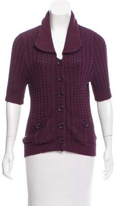 Marc by Marc Jacobs Short Sleeve Knit Cardigan