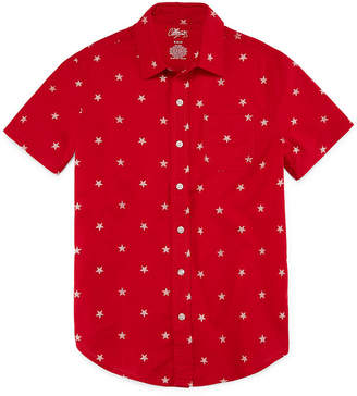 Americana City Streets Short Sleeve Button-Front Shirt Boys
