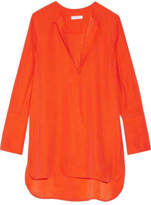 Equipment Niko Washed-silk Tunic - Bright orange