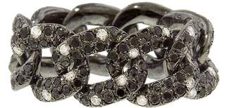 Shay Twinkle Black Diamond Jumbo Link Ring - Black Gold