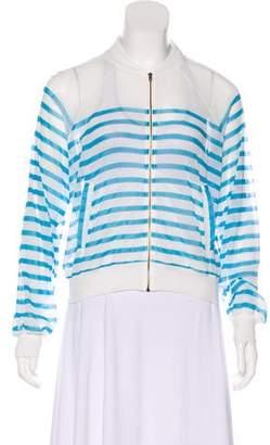 Jean Paul Gaultier Soleil Sheer Zip-Up Jacket