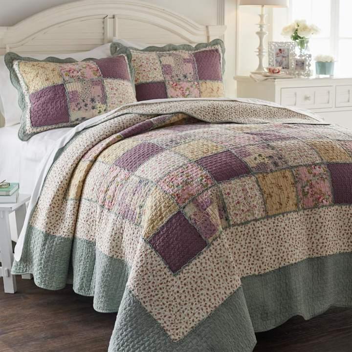 Avondale Manor Saxony 7 Piece Queen Comforter Set In Blush