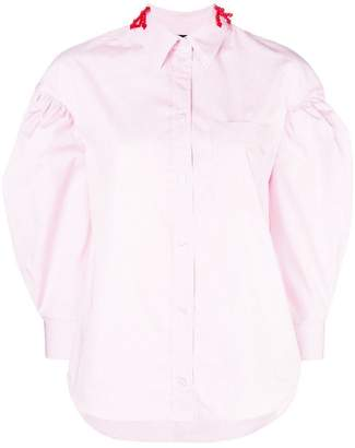 Simone Rocha bow-embellished striped shirt
