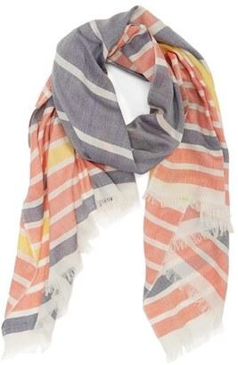 Women's Barbour Sealand Stripe Silk & Cotton Scarf $99 thestylecure.com